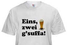 Oktoberfest / Are you German? Do you love beer? Yeah, me too! If you're looking forward to Oktoberfest, and want a funny t-shirt to wear to your favorite biergarten, please take a look at the cool stuff I made. Danke!