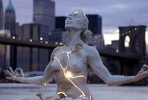 Sculpture / Three dimensional, not conventional, art.