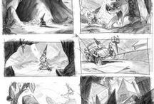 Animation Storyboards / Storyboards and colour keys