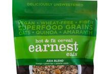 Earnest Eats / Real, wholesom foods made with ingredients like supergrain blends, nutritent rich coffee, and fruit & detox herbs!  https://savorfull.com/brand/earnest-eats/