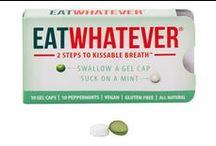 EatWhatever / A line of all-natural, gluten free, vegan mints filled with organic oils for fresh breath!  https://savorfull.com/brand/eat-whatever/