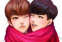 XIUHAN FAN ART... / Xiuhan + Lumin Fan Art ( I thought they deserve their own board lol ) ♥