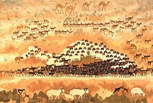 Ali Seliem / Tapestries by Ali Seliem woven at Ramses Wissa Wassef Art Centre since the 1960s..
