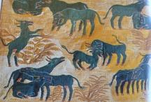 "BOOK: ""The Land of the Nile"", 1979 / Images from ""Das Land am Nil"" 1979 exhibition catalog by Roemer- und Pelizaeus-Museum, Hildesheim, Germany.  Arne Eggebrecht, Director.  Wilfried Seipel, Essayist."