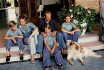 Juan Carlos y Sofía con sus hijos