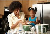Cooking With Kids / Kids and cooking go hand-in-hand -- it's like an edible craft project!  In addition to being fun, fixing their own food helps children develop self-esteem and can turn fussy eaters on to new foods.