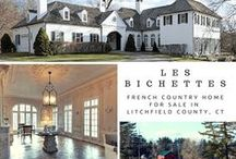 Les Bichettes / This delightful French Country home sits well back on 25 acres overlooking a pond and protected land.
