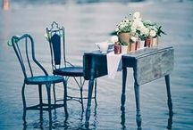 . outdoor dining . /  All four elements were happening in equal measure - the cuisine, the wine, the service, and the overall ambience. It taught me that dining could happen at a spiritual level. Charlie Trotter   / by Tracey Mikkelsen-Hill
