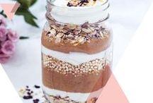 gesunde Rezepte / Leckere Frühstücksideen für Smoothies, Porridge und Müsli, gesunde Snacks und Salate, Herzhafte Rezepte und Backrezepte