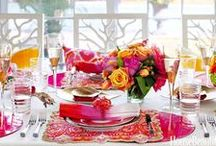 Table-top Decor / As if we needed another excuse to host a dinner party... we can't get enough of these tablescapes!