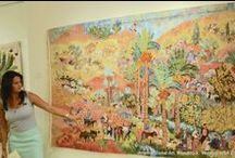 Woodstock, Vermont, Exhibition, 2105 / Artemis Global Art, Main Gallery Space, Woodstock, Vermont, USA July, 2015 http://www.artemisglobalart.com/the-artists/egyptian-tapestries/