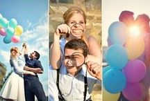 ENGAGEMENT COUPLE PHOTO / balloons, fun and love