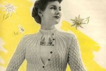 Vintage Sewing and Knitting Patterns