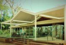 Carport, Verandah and Pool Shelter / This multi project project encompassed 3 different projects and roof outcomes. Carport - full colorbond, Verandah over Deck - Louver Roof over deck and Pool Shelter with insulated roof getting ready for walls and kitchen.