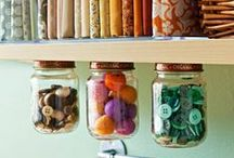 Crafty Storage Solutions / Got so much craft stuff you don't know where to put it all? We can relate! That's why we love these useful storage solutions