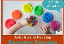 Executive Function | playful ideas to develop EF / How are executive function skills taught? Deliberate play and activities led by educators, parents and caregivers of children under the age of 5 can develop executive function skills like working memory, mental flexibility and inhibitory control.