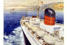 Vintage Cruise Posters / Journey back in time with look into various cruise lines vintage cruise posters