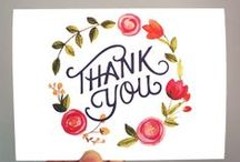 Thank You Cardmaking / Beautiful ideas for handmade thank you cards
