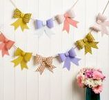 Pretty Paper Garlands / Prettify your home with adorable paper garlands and wreaths.