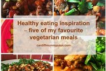 Healthy vegetarian recipe ideas / Clean eating vegetarian and vegan recipe ideas.