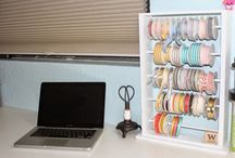 Craft room organization / craft room organization and storage solutions http://www.luvinstampin.com/?m=1 / by Wendy Cranford {luvinstampin.com}