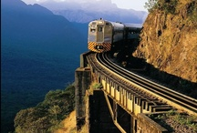 Sobre raíles - trains / Los trenes son mi medio de transporte favorito. Me gusta su estética, su movimiento, los paisajes vistos desde sus ventanillas, el ambiente de las estaciones y la vida compartida con todo tipo de gente dentro de un vagón.