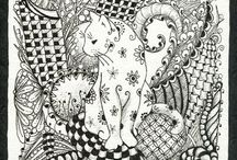 Zentangle / Tangling, Zentangling or Doodling... whatever you want to call it, they all look incredible and they're much fun to draw!