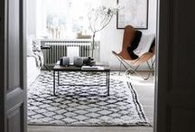 Moroccan Beni Ourain / Moroccan Beni Ourain carpets are woven from undyed natural wool and traditionally decorated with brown/grey/black geometric designs. These magnificent rugs have the fascinating ability to connect the long history of the nomadic Berber tribes with modern day interiors.