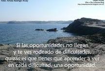 La vida es una oportunidad ... / Una oportunidad ¿de qué? Tú decides