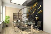 Фотообои для кабинета / Современные фотообои по индивидуальным размерам для офиса и кабинета