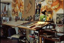 Art Studio Room <3 / What I would want my future studio room to look like :)