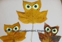 Foglie - Leaves / Attività con le foglie Leaves Crafts