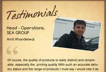 Customer Speaks / A feedback from our awesome customers!