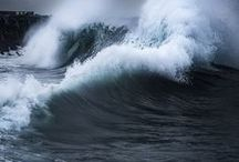 """Storm at Sea / """"He stilled the storm to a whisper...the waves of the sea were hushed.""""  Psalm 107:29"""