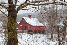 Country Red Farmhouse