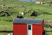 Shepherd's Huts, Outer Hebrides / Shepherd's Huts on the wildly beautiful west coast of the Isle of Lewis, in the Outer Hebrides, Scotland.