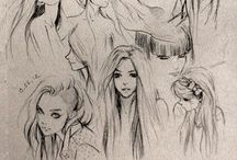 S K E T C H E S / Drawing inspiration. How to draw / pretty drawings / sketches.