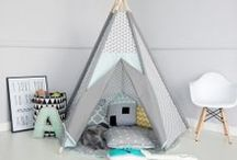 kids tipi  MINT Little NOMAD / Mint pop of colours