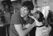 Dogs with men / What's not to love...pictures of men and dogs...LOVE!