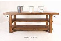 - KITCHEN - / A selection of kitchen furniture from Pierre Cronje's collection, including kitchen islands and butchers blocks,