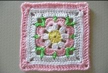 4 crochet  granny squares and blankets (Jeanette) / Granny squares and All kind of Blankets