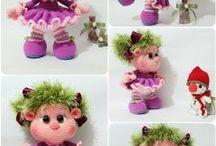 6 Crochet  amigurumi (Jeanette)
