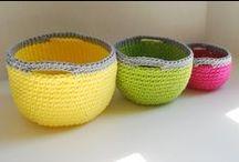 2 crochet bags, baskets, etc. (Jeanette)