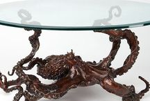 Octopus Coffee Table & More / Bronze octopus coffee table by Kirk McGuire. Go to the Kirk McGuire Bronze Sculpture website link to find out more about his amazing work.