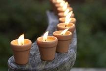 Svíce , lampy