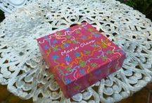Minhas Pinturas: caixas / pequenas caixas pintadas à mão livre em acrílico