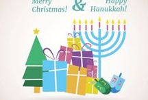 Hanukkah Cards / Hanukkah printable greeting cards and Ecards. #Hanukkah #card #Ecard #DIY #Crafts