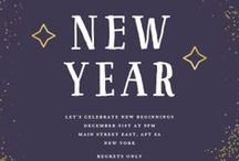 New Year's Eve Invitations Template / New Year's party ideas and invitations. #New year #Party #Invitations #DIY #Crafts #Kids #Dinner #Decorations