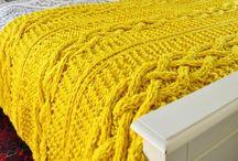 Yellow Knitting