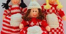 Christmas Elves Knitting Pattern / Original knitting patterns from - http://edithgrace.blogspot.co.uk/